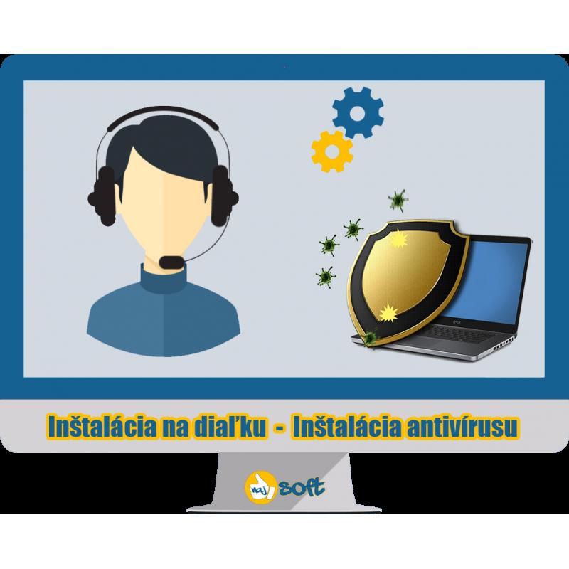 Inštalácia na diaľku – Antivírusu na PC/notebooku