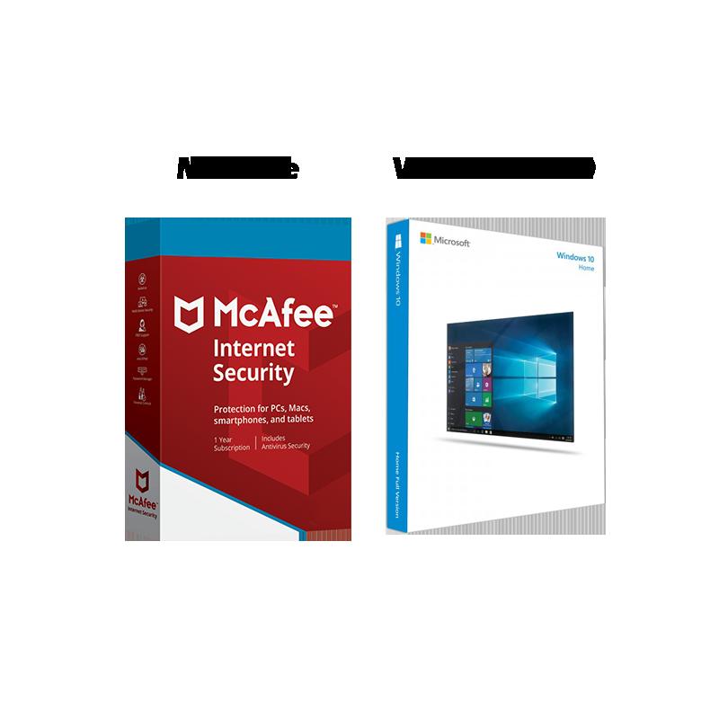 Výhodný balík: Windows 10 + McAfee Internet Security 2019